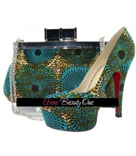 Sac et Chaussures en wax Africain