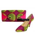 Sac et Chaussure en wax Africain