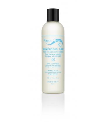 Shampoing doux (à la provitamine B5 et à la protéine d'amande douce) :